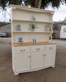 Painted Cream Pine Welsh Dresser