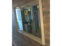 STUNNING EXTRA LARGE FRENCH SHABBY CHIC STYLE MIRROR