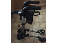 Rollator for the elderly or disabled