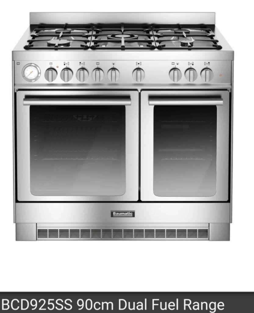 Brand New Baumatic BCD925SS 90cm Dual duel fuel oven