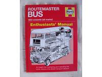 NEW & un-used Haynes Routemaster Bus 1954 onwards hardback Manual. £10 ovno. GREAT XMAS GIFT!