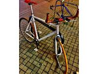 ✅ large 22 inch white refurbish customise Single Speed Road cycle 📲