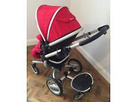 Silver cross surf buggy/pram - newborn to second child on buddy board.