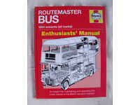 NEW Haynes Routemaster Bus 1954 onwards all marks Manual. H/back. ISBN 978 1 84425 938 0. £10 ovno.