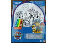 Paw patrol colour your own rucksack.