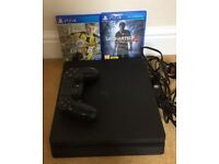 PS4 slim model with game