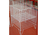 Dump Bins x 2 - Shop Fittings, Retail Display - Large Square Display Baskets