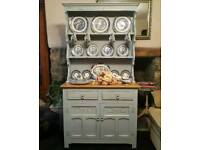 Vintage Old Charm dresser, painted with Annie Sloan Louis Blue over Old White Chalk Paint