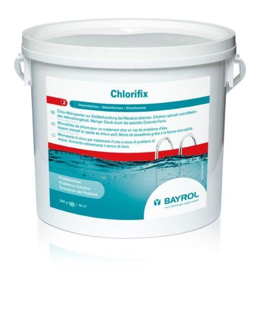 BAYROL Chlorifix 5 kg - Schwimmbad-Schnell-Chlor Mikrokugeln zur Stoßchlorung