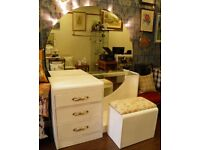 STUNNING ART DECO STYLE DRESSING TABLE & STOOL - WE CAN DELIVER