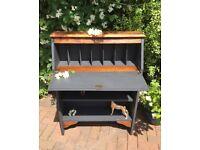 Oak bureau bookcase shelf furniture