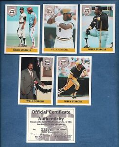 WILLIE-Pops-STARGELL-Pirates-5-card-limited-edition-set-1992-Front-Row