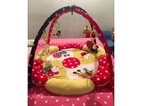 Baby gym.elc.play mat. Colourful Toys swinging,Bee,snail,ladybird,mirror.patchwork.padded.tummy time