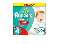 Pampers Baby- Dry Pants Size 4 , Pack Of 94 FREE P&P