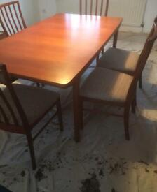 Vintage McIntosh Dining Table & 6 Chairs