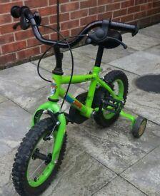 "Apollo Marvin the Monkey Kids Bike - 12"" Wheel and Helmet"