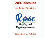 Rose Heating and Plumbing Services - Boiler Servicing, Repairs and Installation- Gas Safe Registered
