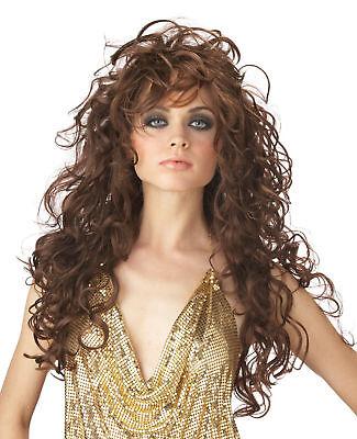 Adult Long Wavy Brunette Brown Seduction Costume Wig  Adult Brown Seduction Wig