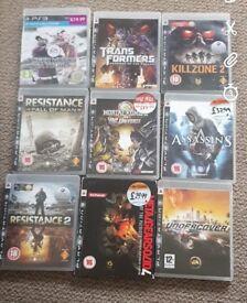 A bundle of 15 playstation 3 games