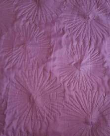 Pair of purple curtains/door panel