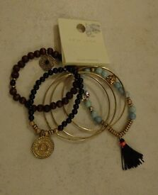 Mixed bundle of 6 bracelets –brand new from New look