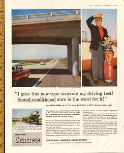 1958 full-page color ad for Portland Cement w George Gobel