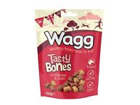 Box of 7pks of Wagg Tasty Bones Dog Treats with Chicken & Liver