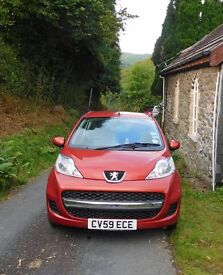 Peugeot 107 Verve, Orange colour, Very clean throughout.