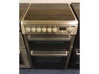 £190 Steel Hotpoint 60cm Cooker - 12 Months Warranty