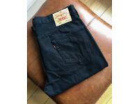 Levis 501 Black Jeans W36 L30 Button Fly