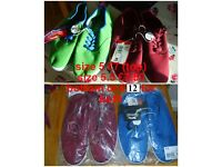 canvas shoes size 5 £7 (green and red) size 5.5 £7.50 (burgundy and blue) or all 4 pairs for £12