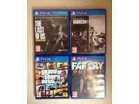 4 PS4 Bundle [GTA 5, The Last Of Us, Rainbow Six & Far Cry Primal]