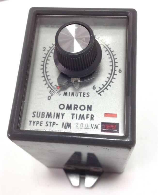 OMRON SUBMINY 6 MINUTE TIMER  200VAC TYPE STP-NM