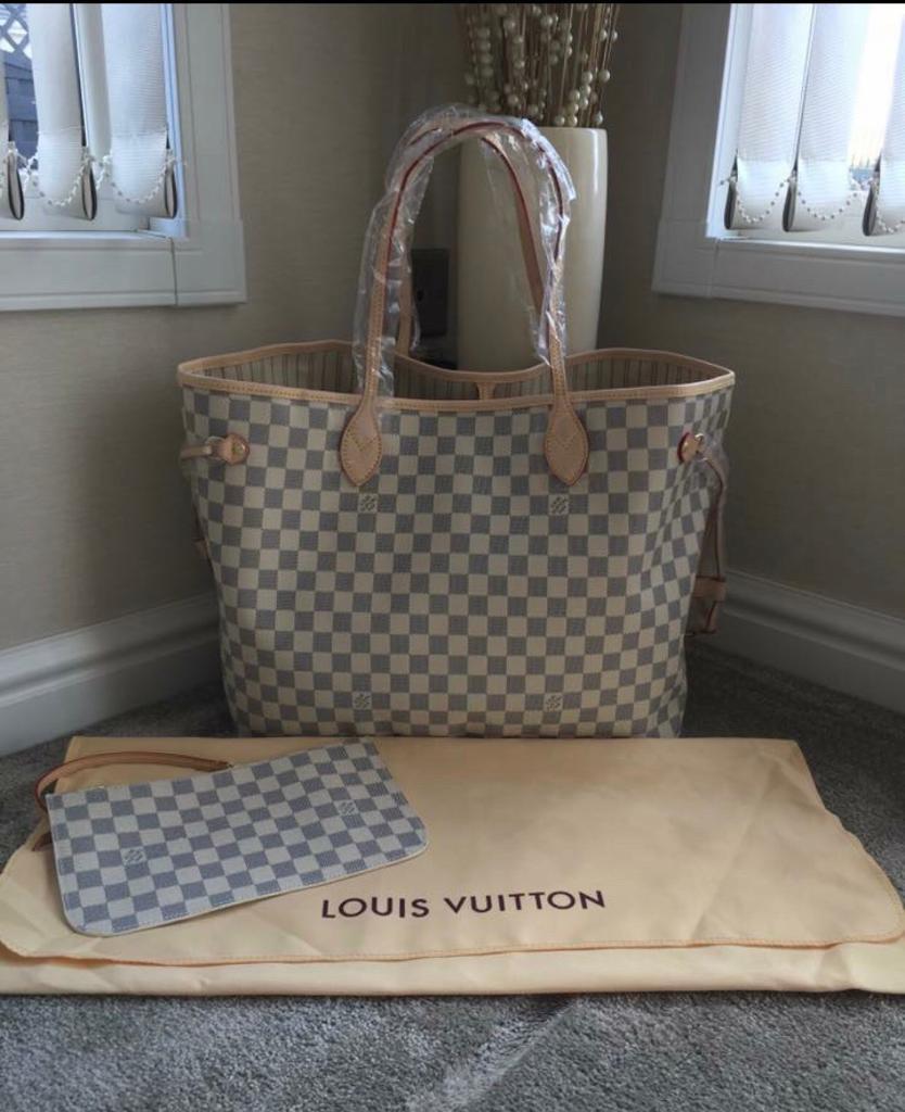 Louis Vuitton Neverfull MM Damier Azur Canvas. pls read description ... 9dff73f8e98a8