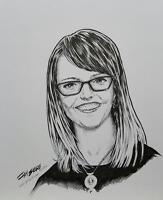 11x14 Realistic Ink Portraits drawn by hand, digital file