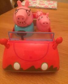 Peppa pigs red car talks vgc
