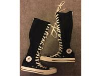 Black Knee High[Size 4]Converse