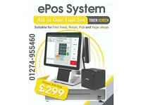 """EPOS – POS All in one 15.6 """" Touch Screen full set. Shop till pos – epos system software included."""