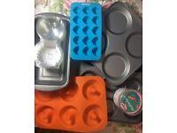 Baking Trays, Loaf Cake Tins - Doughnut, Baking Cupcakes (Baking Kit 2)
