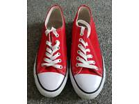 Red Converse Trainers Size 6