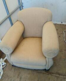 Vintage low arm chair for sale