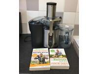 Sage Nutri Juicer Plus Centrifugal Juicer with Joe Cross juice books