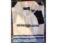 MENS HENRI LLOYD POLO SHIRT - SIZE MEDIUM - BRAND NEW WITH TAG'S - £20 ONO