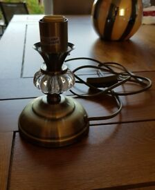Antique/brass effect lamp stand/base