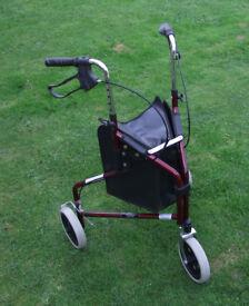 3 wheel Walker with Bag
