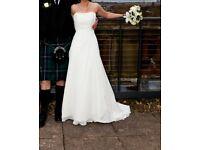 Beautiful, classic ivory wedding dress