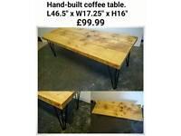 Hand-built coffee table