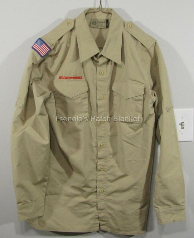 Boy Scout now Scouts BSA Uniform Shirt Size Adult Small LS FREE SHIPPING 009