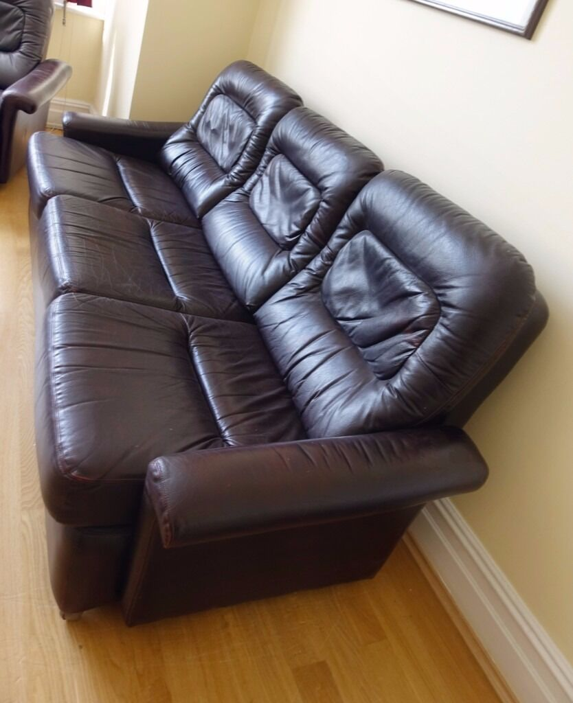 Corner Sofa Sale London: EX HARRODS GENUINE LEATHER SOFA SUITE