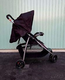 BabyStart Ria Black 3 Wheeler Pushchair - Used